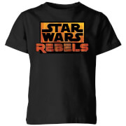 Star Wars Rebels Logo Kids' T-Shirt - Black