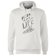 Pizza Is My Life Hoodie - White