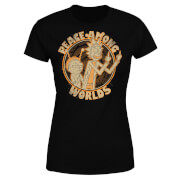 Camiseta Rick y Morty Peace Among Worlds - Mujer - Negro