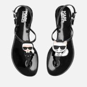 Karl Lagerfeld Women's Jelly Karl Ikonic Sandals - Black