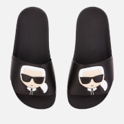 Karl Lagerfeld Women's Kondo Karl Ikonic Slide Sandals - Black