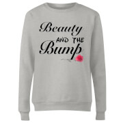Big And Beautiful Beauty And The Bump Women's Sweatshirt - Grey