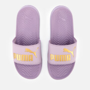 Puma Women's Popcat Slide Sandals - Elderberry/Puma Team Gold