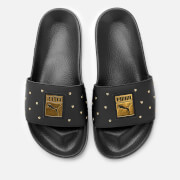 Puma Women's Leadcat Studs Slide Sandals - Puma Black/Puma Team Gold