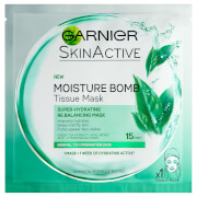 Garnier Moisture Bomb Green Tea Hydrating Face Sheet Mask for Combination Skin 32g