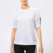 adidas Women's Must Haves 3 Stripes Short Sleeve T-Shirt - White