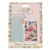 Touca de Duche da The Vintage Cosmetic Company - Pink Floral Satin