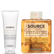 L'Oréal Professionnel Source Essentielle Dry Hair Shampoo and Hair Balm Duo