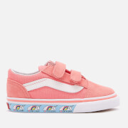 Vans Toddlers' Unicorn Old Skool Velcro Trainers - Strawberry Pink/True White