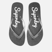 Superdry Women's Super Sleek Flip Flops - Black/Optic White