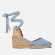 Castaner Women's Carina Espadrille Wedged Sandals - Jeans Claro
