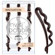 invisibobble Waver Slide-Lock Hair Clip - Pretty Dark (Pack of 3)