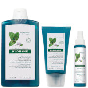 KLORANE Detoxifying Anti-Pollution Hair and Scalp Regimen Bundle for Ultimate Shine