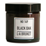 L:A BRUKET Small Black Oak Scented Candle 50g
