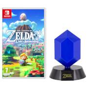 The Legend of Zelda: Link's Awakening + Blue Rupee Lamp