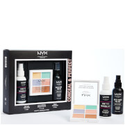 NYX Professional Makeup Conceal and Perfect Primer, 3C, and Setting Spray Gift Set