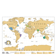 My Scratch Map - Weltkarte zum Rubbeln