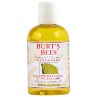 Aceite de cuerpo y baño Lemon & Vitamin E Bath & Body Oil de Burt's Bees (4 fl oz / 118 ml)