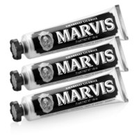 Marvis Amarelli Liquorice Mint Tannkrem Triple Pack (3 x 75 ml)