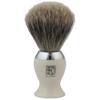 Geo. F. Trumper IB2IB Simulated Ivory and Chrome Best Badger Shaving Brush