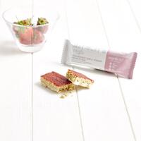 Barrita Crujiente de Mermelada de Fresa y Yogurt