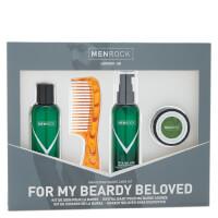 Kit de soin pour barbe de Men Rock- Beardy Beloved (Shampoing à barbe, baume à barbe, cire à moustache,peigne à barbe)