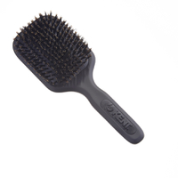 Kent AH13G AirHeadz Medium Pure Bristle Paddle Hair Brush - svart