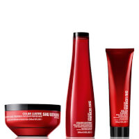 Shu Uemura Art of Hair Color Lustre Color Lustre Sulfate Free Shampoo (300ml), Masque (200ml) og Thermo-Milk (150ml)