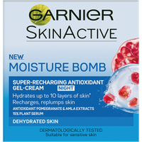 Gel-crema de noche Moisture Bomb Super-Recharging Night Gel-Cream de Garnier (50 ml)