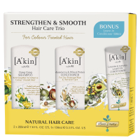 A'kin Strengthen & Smooth Hair Care Trio (Worth £36.00)