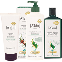 A'kin Unscented Hair and Body Trio (værdi £50,00)