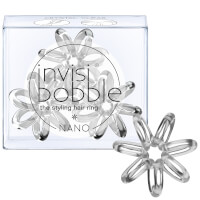 invisibobble Nano Hair Tie (3 Pack) - Crystal Clear