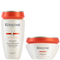 Kérastase Nutritive Bain Satin 2 250 ml & Masquintense Cheveux Epais (for tykt hår) 200 ml