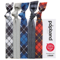 Popband London Hair Ties - Tartan