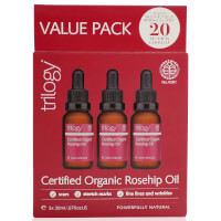 Trilogy Certified Organic Rosehip Oil 3 x 20ml