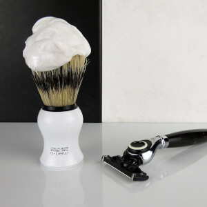 men-ü Barbiere Shave Brush and Stand - White: Image 2