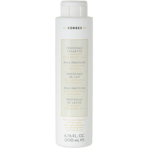 Korres Milk Proteins 3 In 1 Cleanser, Toner & Eye Makeup Remover (200ml)