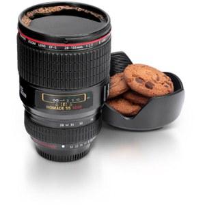 Kameraobjektiv Becher, schwarz