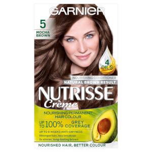 Garnier Nutrisse Permanent Hair Dye - 5 Mocha Brown