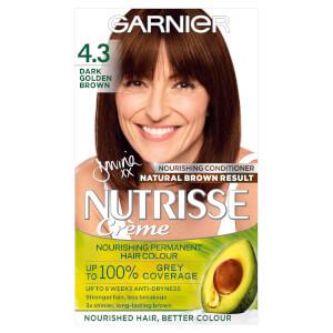 Garnier Nutrisse Permanent Hair Dye - 4.3 Dark Golden Brown