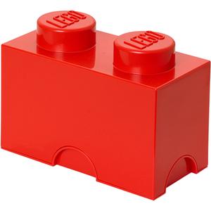 LEGO® Brique de Rangement 2 Tenons - Rouge