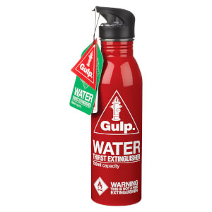 Gulp Fire Extinguisher Waterbottle - Red  from I Want One Of Those