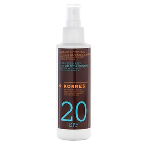 KORRES Walnut and Coconut Clear Sunscreen Spray SPF20 (150ml)
