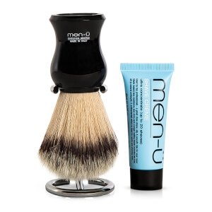 men-ü DB Premier Shave Brush med Chrome Stand - Black