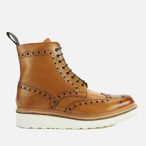 Grenson Men's Fred V Brogue Boots - Tan