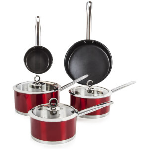 Morphy Richards 46411 Accents 5 Piece Pan Set - Red
