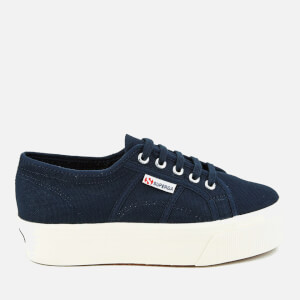 Superga Women's 2790 Linea Up Down Flatform Trainers - Navy