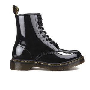 Dr. Martens Women's Core 1460 W 8-Eye Patent Lamper Boots - Black