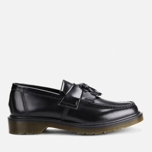 Dr. Martens Adrian Polished Smooth Leather Tassle Loafers - Black