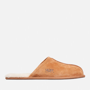 UGG Men's Scuff Suede Sheepskin Slippers - Chestnut